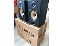 Bowers and Wilkins DM601 Stereo Monitor speakers
