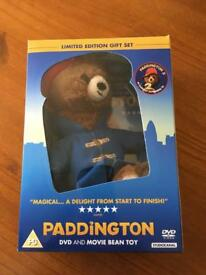 Paddington DVD and bean toy limited edition gift set