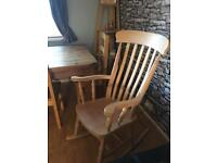 Solid wood rocking chair - great condition!!