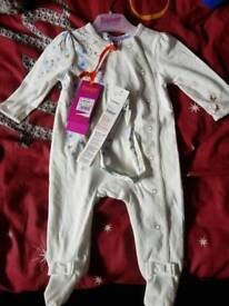 Ted baker girl baby grow 0-3 months