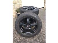 Set of 4 Vredestein Snowtrac3 winter tyres with alloys
