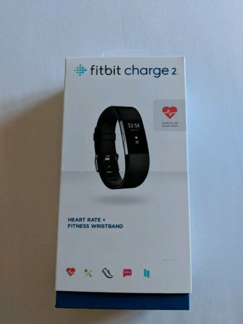 Fitbit Charge 2 HR - Black - Large | in Wolverton