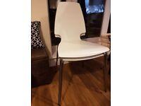 4 x IKEA VILMAR White & Chrome Chairs