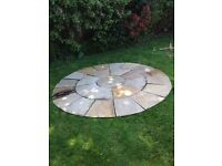 """Indian sandstone slab circle 7'9"""" and 1"""" thick"""