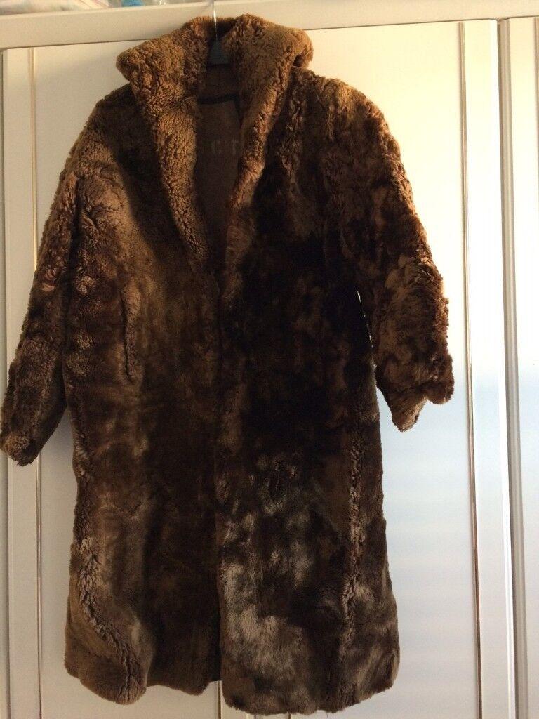 Vintage fur coat approx size 12-14