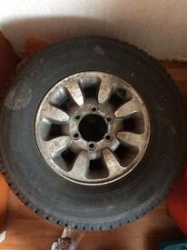 X2 alloy wheels with tyres