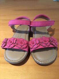 Pink toddler sandals size 7 (Next)