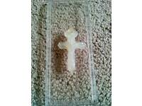 White Jade Cross Pendant. £5.00.