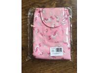 Pink unicorn retractable makeup bag