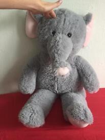 Large (85cm long) elephant soft toy