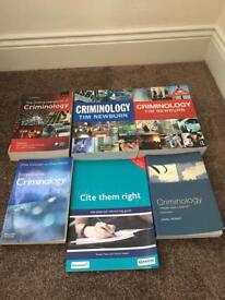 Selection of Criminology books