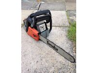 "Tanaka petrol chainsaw 14"" in need of repair. Very manoeuvrable, Powerful saw 3years old"