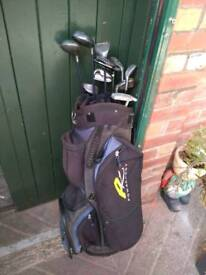 Power caddy bag and clubs