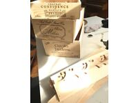 Wooden Wine Boxes - set of 3