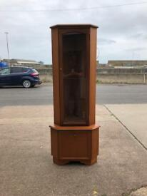 Corner credenza display cabinet