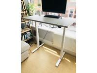 Gorgeous white standing desk
