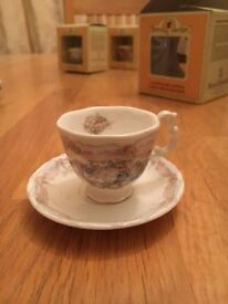 Royal Doulton Branbly Hedge - The Wedding Miniature China Teacup and Saucer