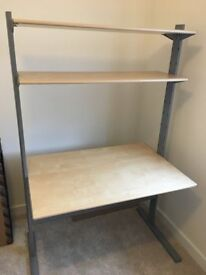 Hardly used very good condition study desk with shelves