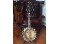 Virtually new Ashbury 5 string resonator Banjo for sale