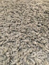 Ikea Hampen high pile grey rug