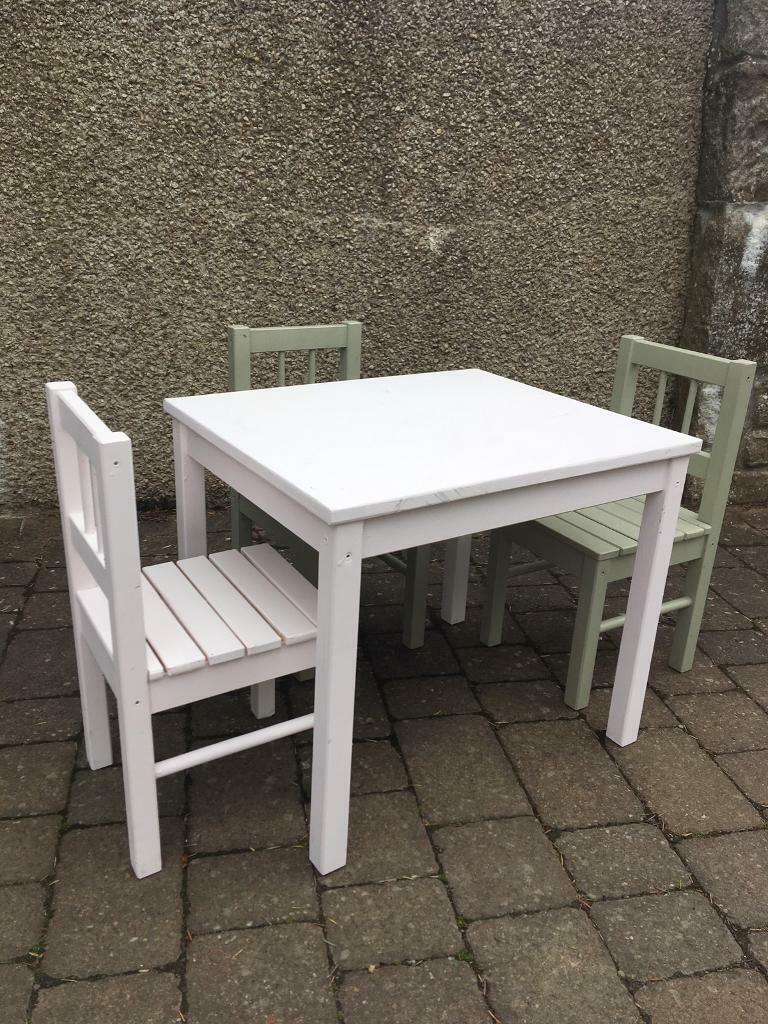 Terrific Kids Ikea Table Chairs In Ellon Aberdeenshire Gumtree Unemploymentrelief Wooden Chair Designs For Living Room Unemploymentrelieforg