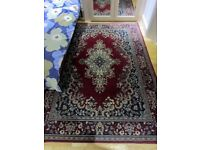 Large (164x232cm) Red 2nd Hand Vintage Oriental Rug (Pick up only)