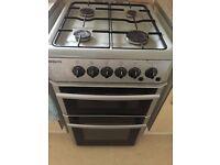 Beko silver gas cooker 60x59