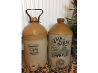 Wanted brewery pictorial flagons jars