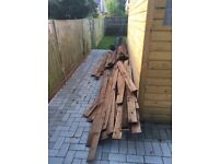 6 foot Fence boards with creosote coating