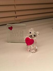 Genuine Swarovski crystal love teddy bear