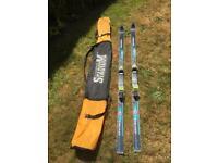 Head Racing skis with carry bag