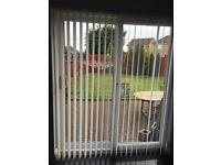 White vertical blind for patio door