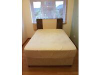 Double Divan Bed + Mattress