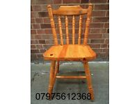 PINE WOODEN DINING CHAIR