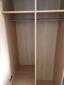 WARDROBE, COFFEE TABLE, CUBE DISPLAY & BEDSIDE CABINET