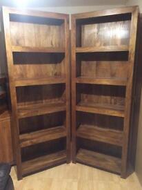 Solid mango bookcases