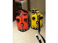 Two trunki kids suitcases
