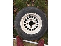 Old mini alloy wheel.