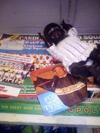 Antique job lot bundle retro doll world cup etc