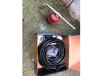 Compressor hose and fittings with air gun and spray gun adaptor
