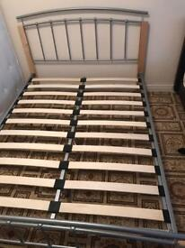 DOUBLE BED FRAME WITH MATTRESS FOR SALE