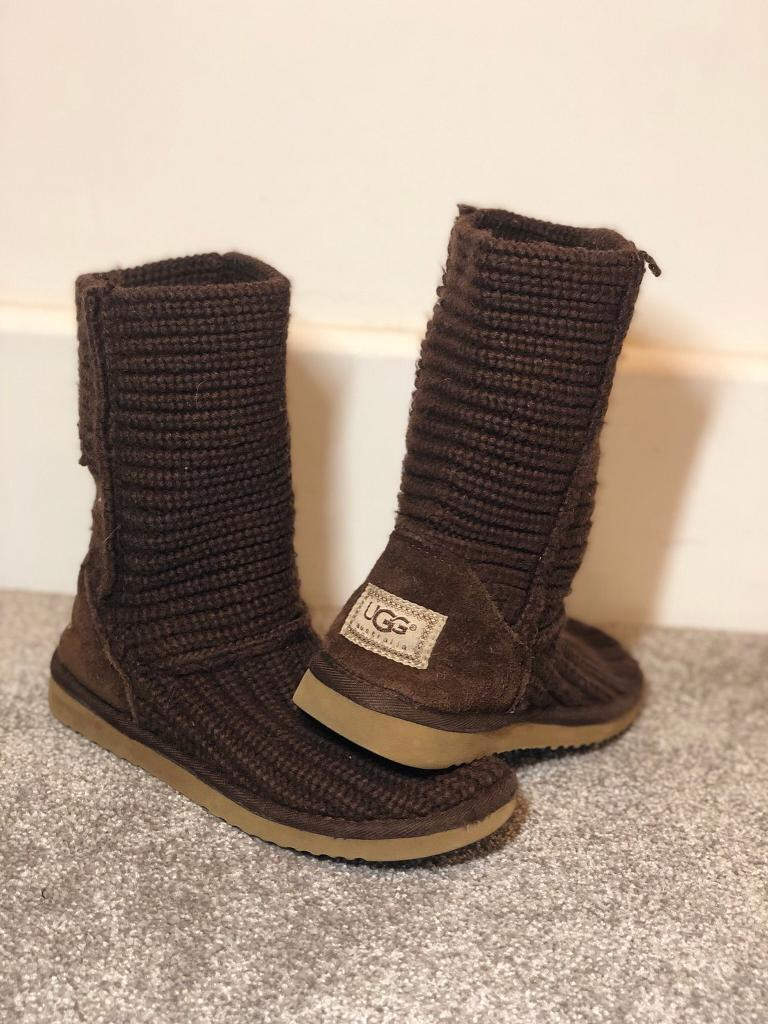 021d812e01c UGG Brown Knitted Size 3.5 Boots