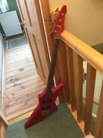 Aria Pro II ZZB Deluxe Bass Guitar - Red