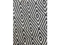 Brand new grey/ white rug/runner