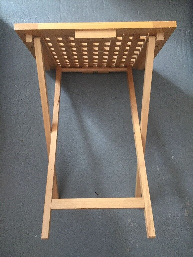 Small wooden folding side table