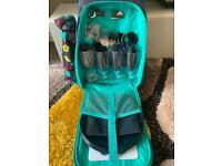 4 Person Picnic Backpack with Cooler Bag & Insulated Bottle Holder + 2 Thermos Flasks