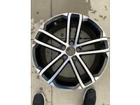 """GENUINE VW GOLF MK7 MK6 GTD NOGARO 18"""" INCH DIAMOND TURNED/CUT ALLOY WHEEL X1"""