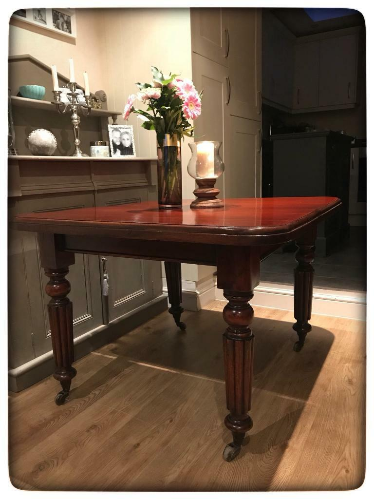 Victorian Style Mahogany Extending Pull-Out Dining Table | in ...