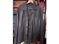 Ashwood padded leather jacket