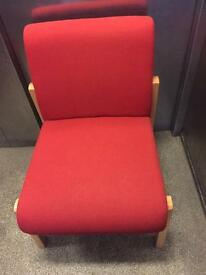 Very clean comfy red armchairs each £20